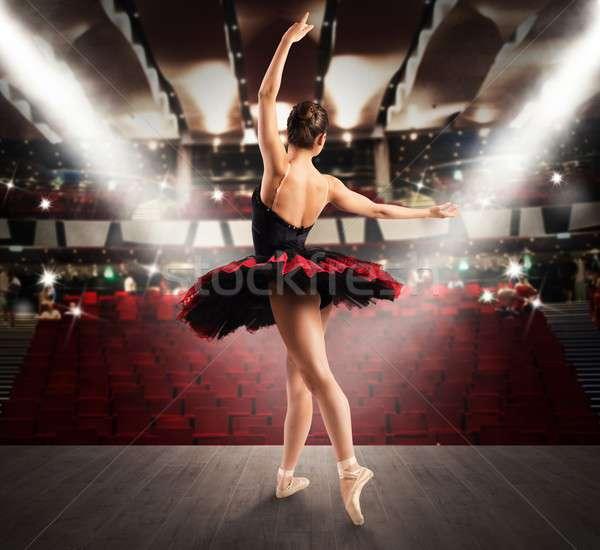 Classica ballerino teatro fase donna dance Foto d'archivio © alphaspirit