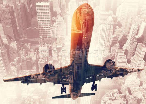 Сток-фото: самолета · удвоится · экспозиция · аэропорту