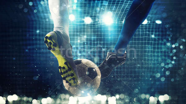 Stock fotó: Közelkép · futball · kész · labda · futball · gól