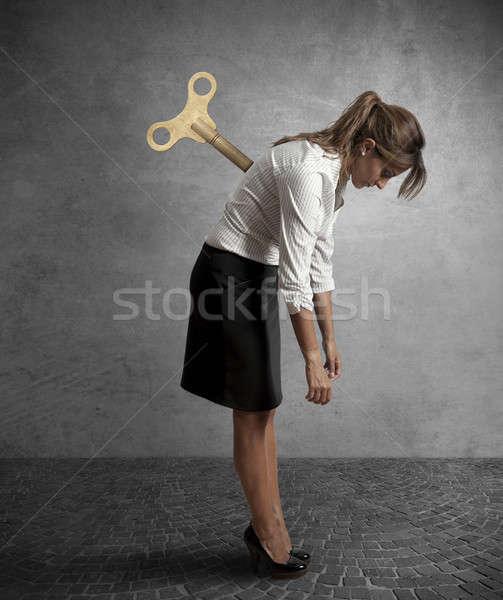 Tired businesswoman Stock photo © alphaspirit