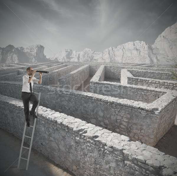 Looking for the solution to the maze Stock photo © alphaspirit