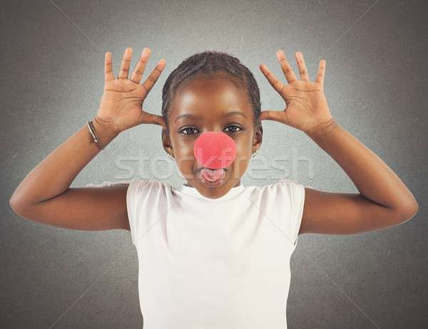 Grimace little girl Stock photo © alphaspirit