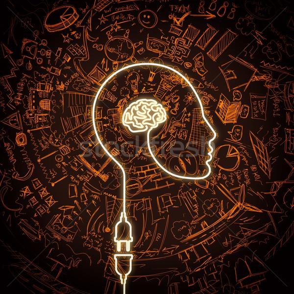 接続 アイデア 線 電気 プラグイン 脳 ストックフォト © alphaspirit