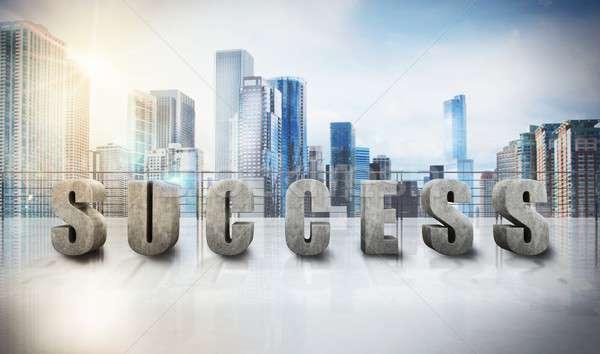 Success business view Stock photo © alphaspirit