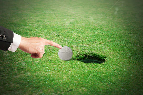 Stock photo: Cheating in golf
