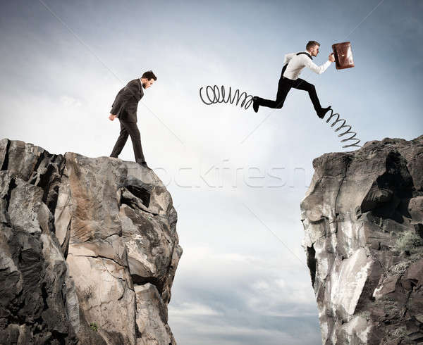 Irregular competition with obstacle Stock photo © alphaspirit