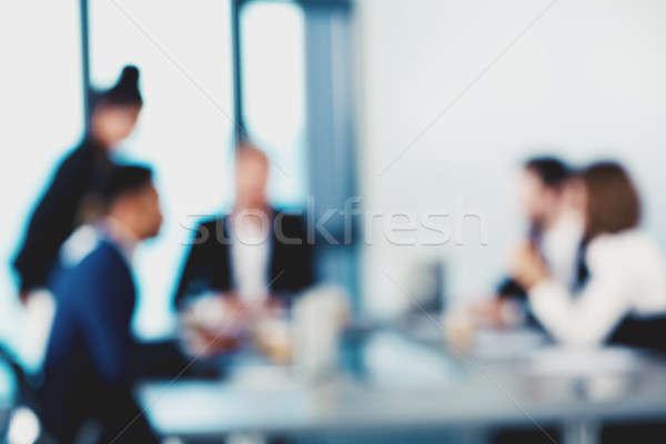 ぼやけた ビジネスの方々  ビジネス 笑顔 会議 抽象的な ストックフォト © alphaspirit