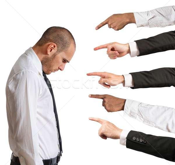Empresario manos triste Trabajo persona juez Foto stock © alphaspirit