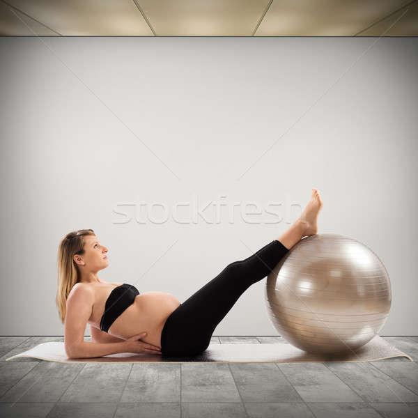 Fitness for pregnant Stock photo © alphaspirit