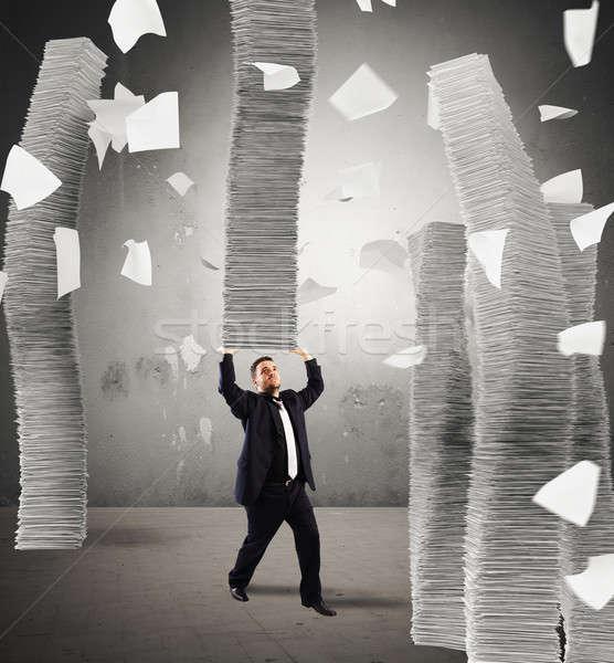 бесконечный человека бесконечный бумаги Сток-фото © alphaspirit