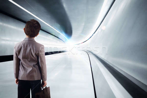 Child walks toward the future Stock photo © alphaspirit