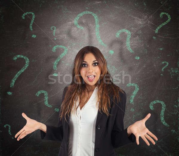 путать деловая женщина зеленый женщину работу Сток-фото © alphaspirit