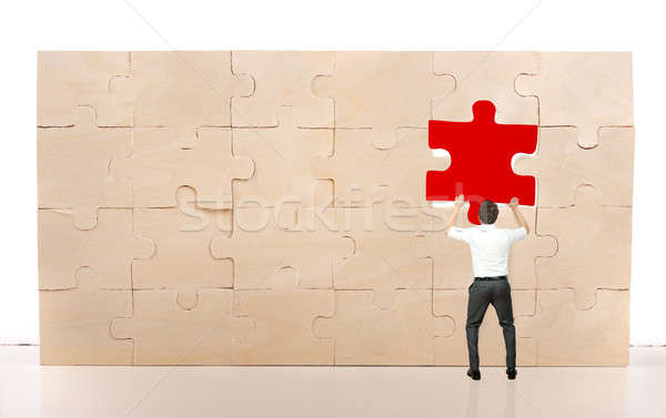 Complete a puzzle with missing piece Stock photo © alphaspirit