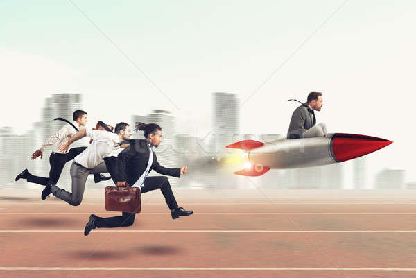 Overcome and achieve success 3D Rendering Stock photo © alphaspirit