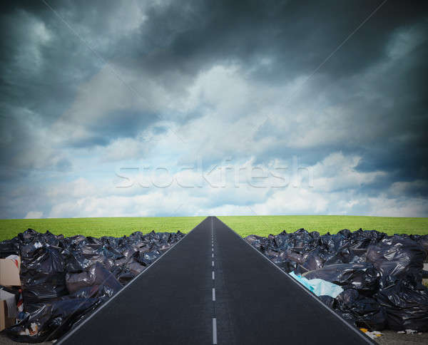 Way for a clean environment. overcome the global pollution problem Stock photo © alphaspirit