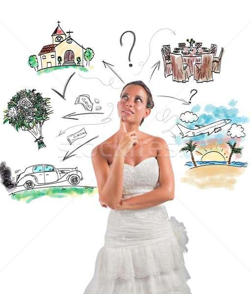 Mariage planificateur femme organiser fille voiture Photo stock © alphaspirit