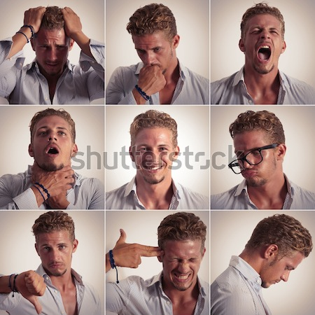 Emotions in Man Stock photo © alphaspirit