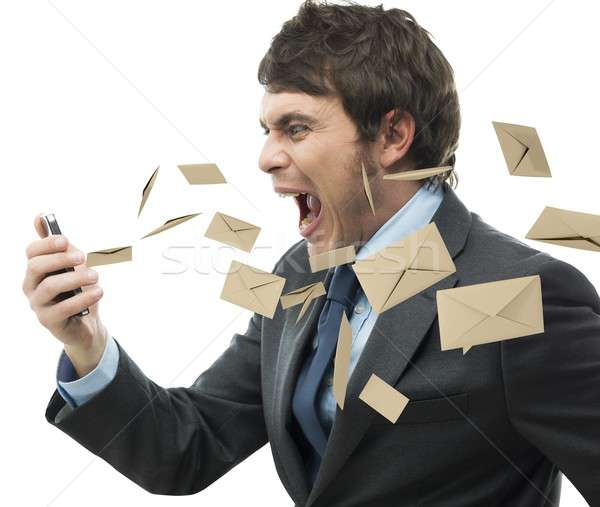Stock photo: Stress work mail