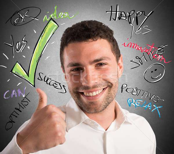 Optimism in business Stock photo © alphaspirit