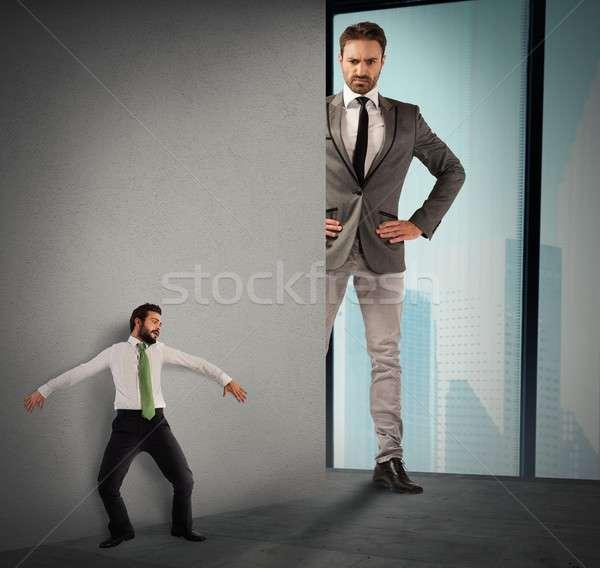 Irha nagy főnök foglalkoztatott félő férfi Stock fotó © alphaspirit