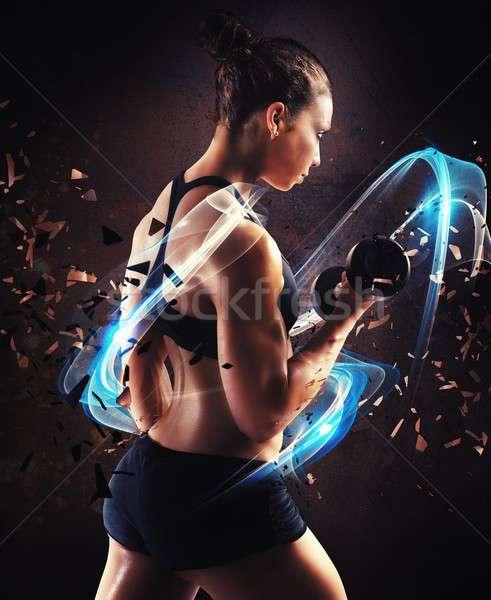 Powerful woman Stock photo © alphaspirit