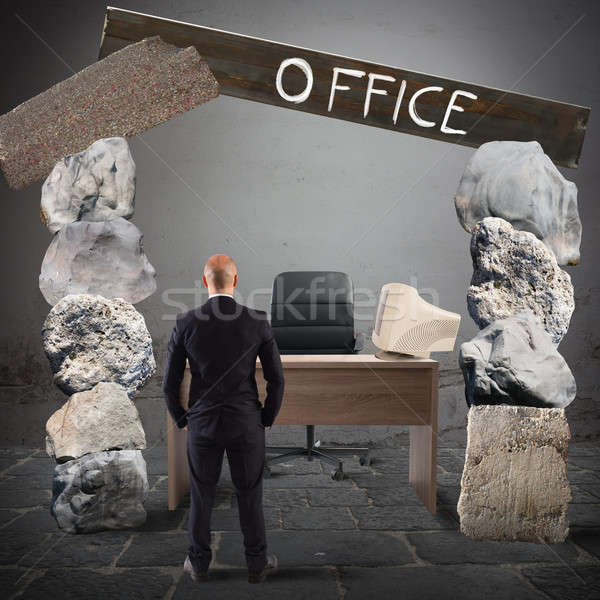 Crisis office Stock photo © alphaspirit