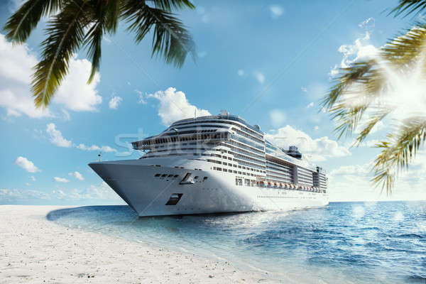 Tropical cruise voyage Stock photo © alphaspirit