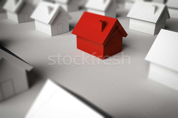 3D Rendering finding a home for sale Stock photo © alphaspirit
