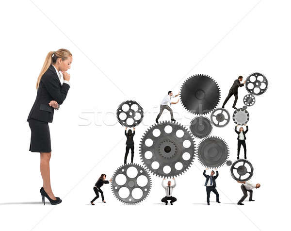 Boss builds a business team Stock photo © alphaspirit