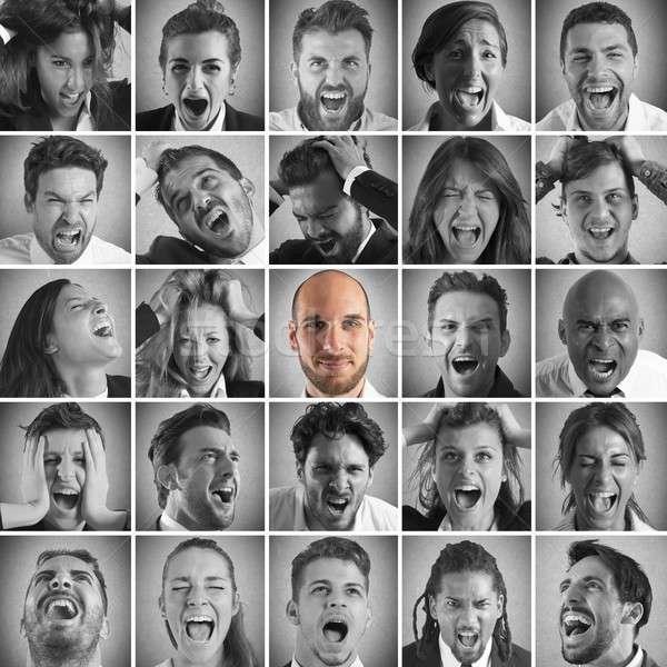 Smile between screams Stock photo © alphaspirit