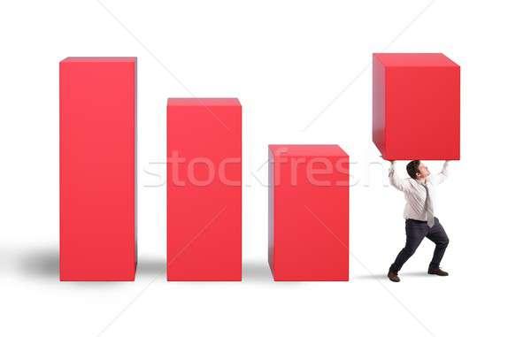 üzletember határozott siker statisztikai kimerültség üzlet Stock fotó © alphaspirit