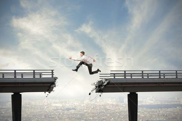 Stock photo: Overcome the difficulties