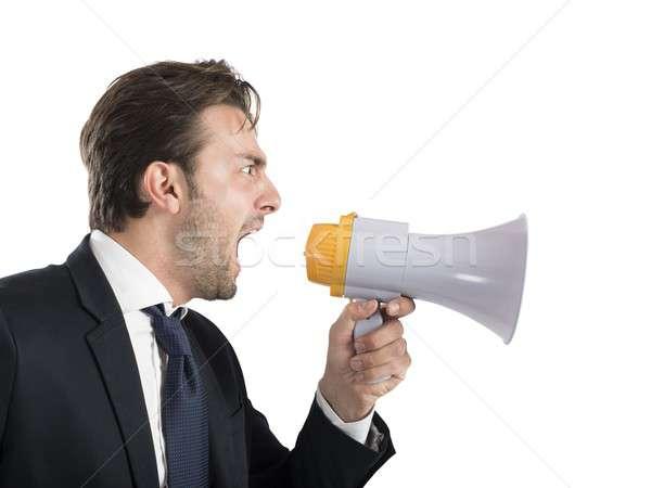 Angry boss shouting Stock photo © alphaspirit