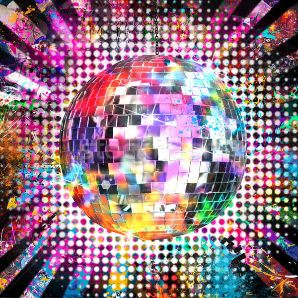 Disco ball licht kleur dans disco bal Stockfoto © alphaspirit