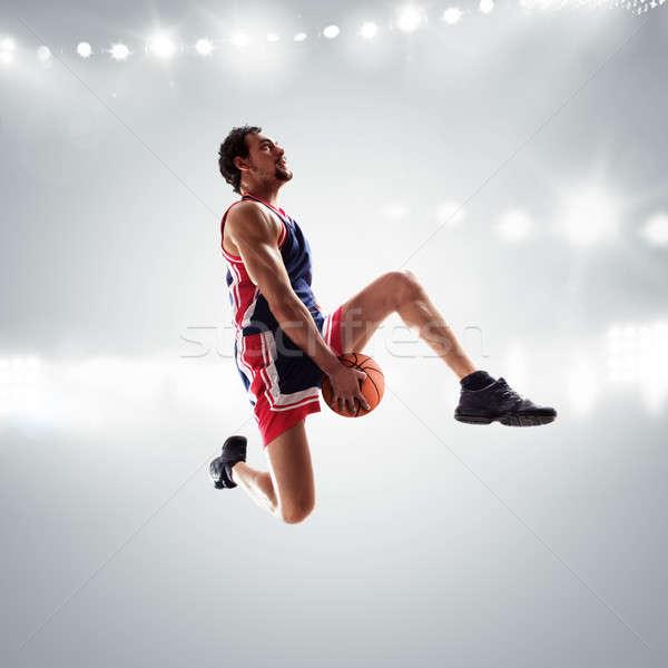 Basket player at the stadium Stock photo © alphaspirit