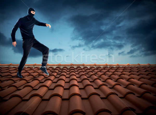 Thief on the roof Stock photo © alphaspirit