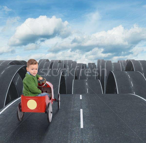 Difficile avenir Kid rues tous rue Photo stock © alphaspirit