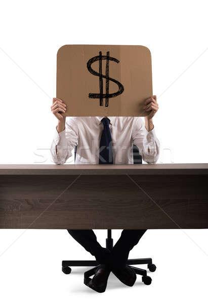 Działalności ceny tektury biznesmen biuro Dolar Zdjęcia stock © alphaspirit
