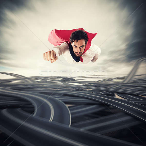 Overcome the difficulties. Concept of success and breakthrough Stock photo © alphaspirit