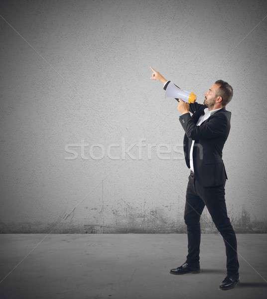 Authoritarian businessman Stock photo © alphaspirit