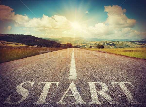Start road Stock photo © alphaspirit