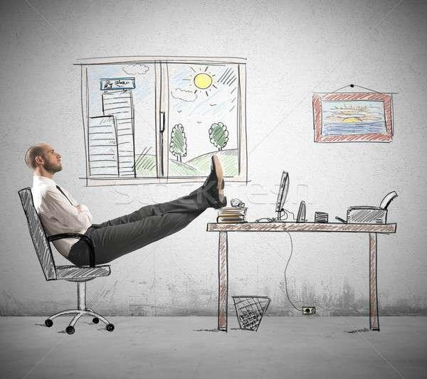 карьеру амбиция бизнесмен компьютер служба строительство Сток-фото © alphaspirit