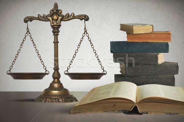 Stockfoto: Evenwicht · recht · justitie · business · metaal · financieren