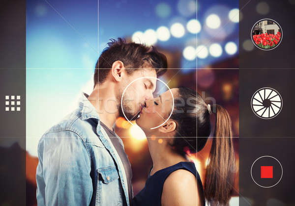 Picture of a couple kissing Stock photo © alphaspirit