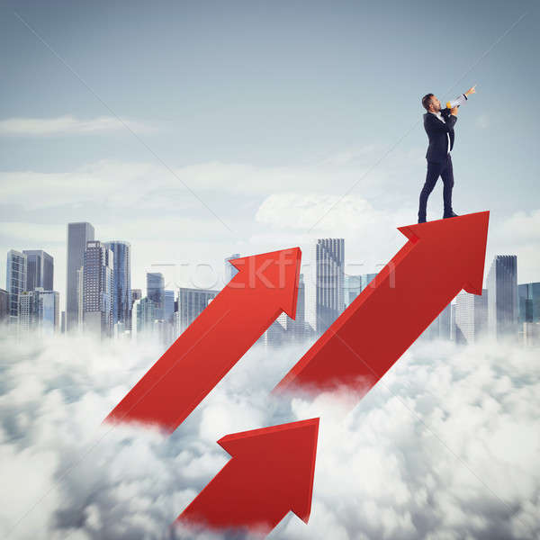 Aim high in business Stock photo © alphaspirit