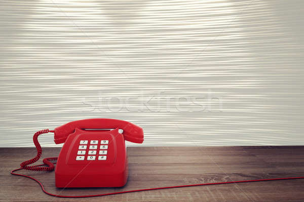 3D rendering of red telephone Stock photo © alphaspirit