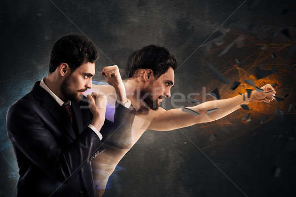 Powerful businessman Stock photo © alphaspirit