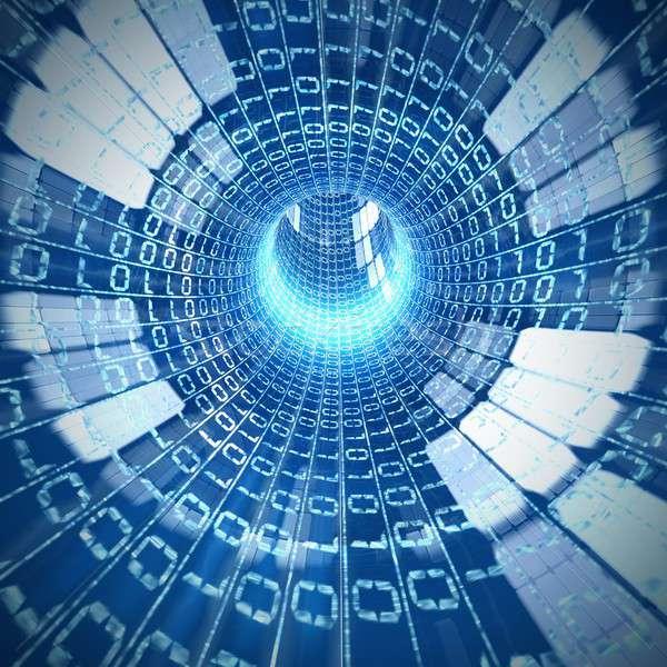 кабеля интернет внутри футуристический видение компьютер Сток-фото © alphaspirit