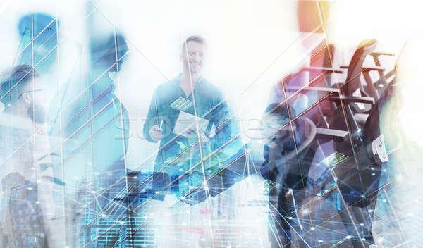 事業者 オフィス ネットワーク 効果 チームワーク パートナーシップ ストックフォト © alphaspirit