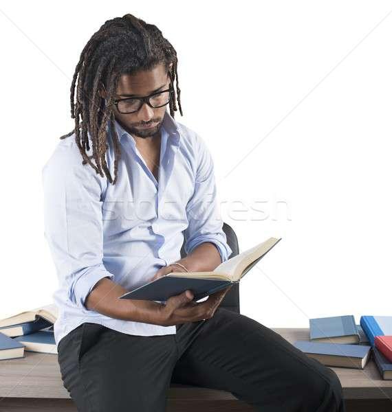 érdekes könyvek tanár papír könyv iskola Stock fotó © alphaspirit